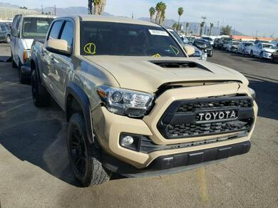 Acura Van Nuys >> Salvage Car Toyota Tacoma 2017 Tan for sale in VAN NUYS CA online auction 3TMCZ5AN6HM049495