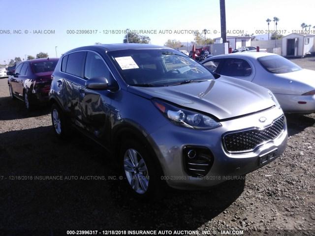 Salvage Car Kia Sportage 2018 Gray For Sale In Phoenix Az Online