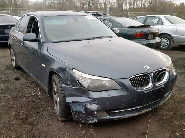 Salvage Car Bmw 5 Series 2008 Gray for sale in WALDORF MD