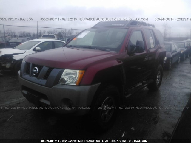 Salvage Car Nissan Xterra 2006 Maroon For Sale In West Chester Oh