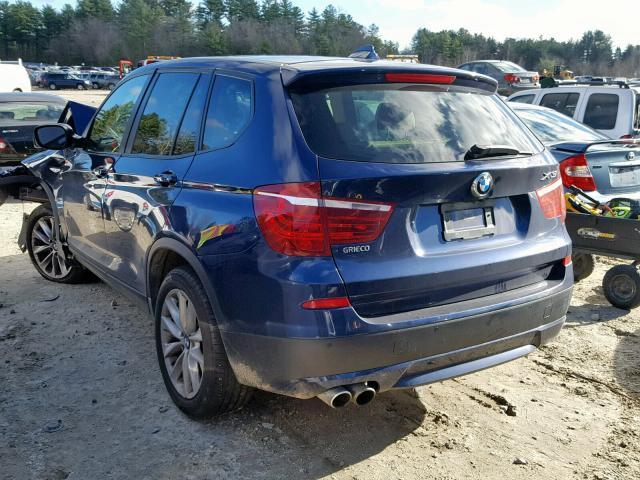 Salvage Car Bmw X3 2014 Blue For Sale In Mendon Ma Online
