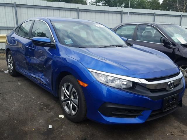 Salvage Car Honda Civic 2017 Blue For Sale In HAM LAKE MN