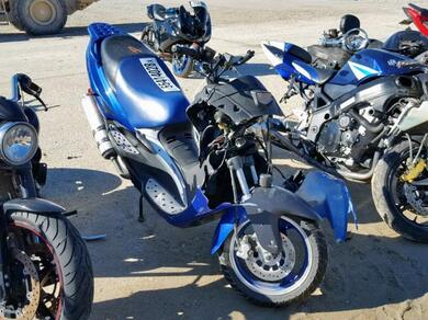 Auction Ended: Salvage Motorcycle Yongfu Scooter 2017 Blue