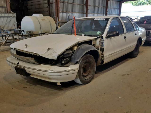 Salvage Car Chevrolet Caprice Classic 1995 White for sale in