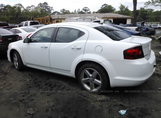 Salvage Car Dodge Avenger 2011 White For Sale In