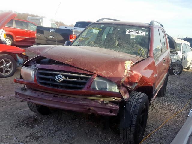 Auto Salvage Des Moines >> Salvage Car Suzuki Vitara 2003 Burgundy For Sale In Des