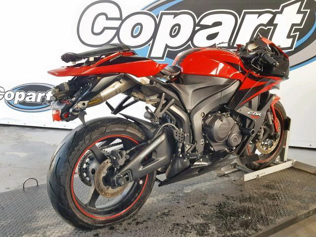 Salvage Motorcycle Honda Cbr600rr 2007 Red for sale in