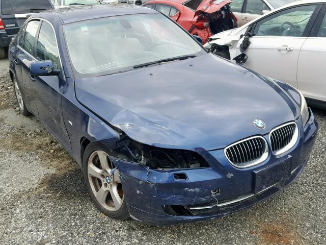 Salvage Car Bmw 5 Series 2008 Blue for sale in FINKSBURG MD online