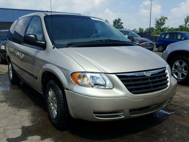 Salvage Car Chrysler Town And Country 2006 Gold For Sale In