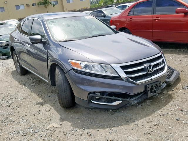 Salvage Car Honda Crosstour 2015 Gray For Sale In Miami Fl