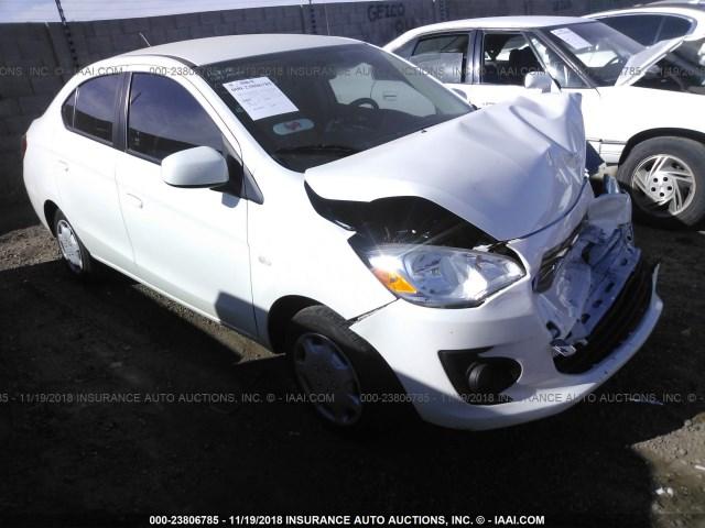Salvage Car Mitsubishi Mirage G4 2017 White For Sale In Phoenix Az