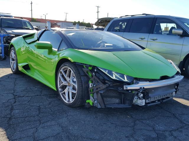 Salvage Car Lamborghini Huracan 2017 Green For Sale In Van Nuys Ca