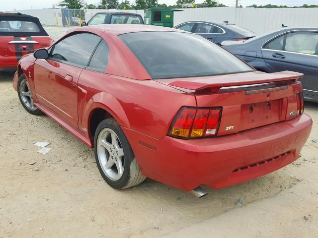 Salvage Car Ford Mustang 2001 Red for sale in LOGANVILLE GA online