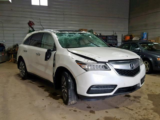 Acura Des Moines >> Salvage Car Acura Mdx 2016 White For Sale In Des Moines Ia Online