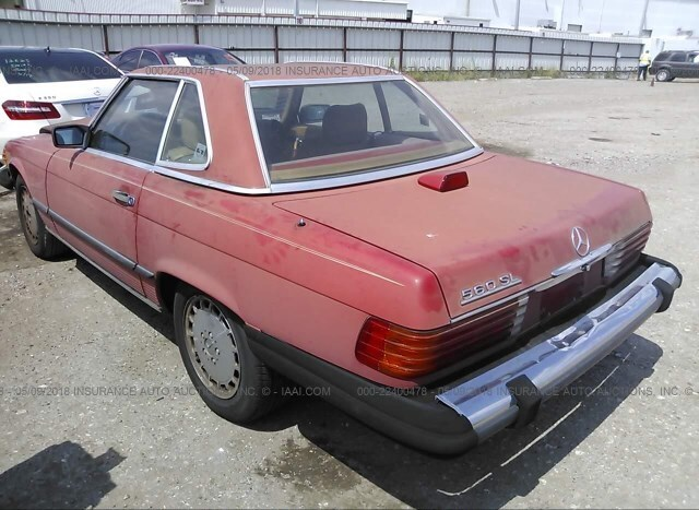 Salvage Car Mercedes-Benz 560 1987 Red for sale in Houston TX online