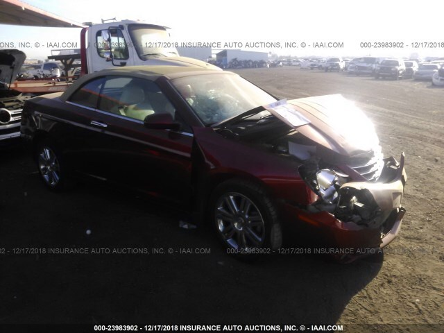 Salvage Car Chrysler Sebring 2008 Red For Sale In Phoenix Az Online