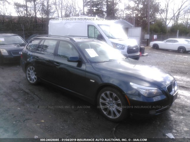 Salvage Car Bmw 5 Series 2008 Green for sale in Loganville