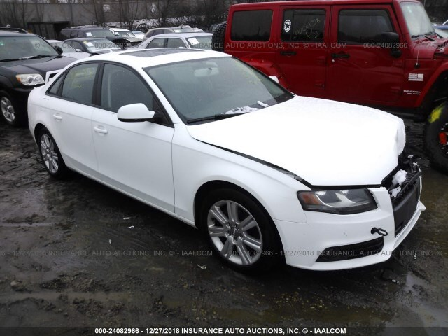 Salvage Car Audi A4 2010 White For Sale In St Paul Mn Online
