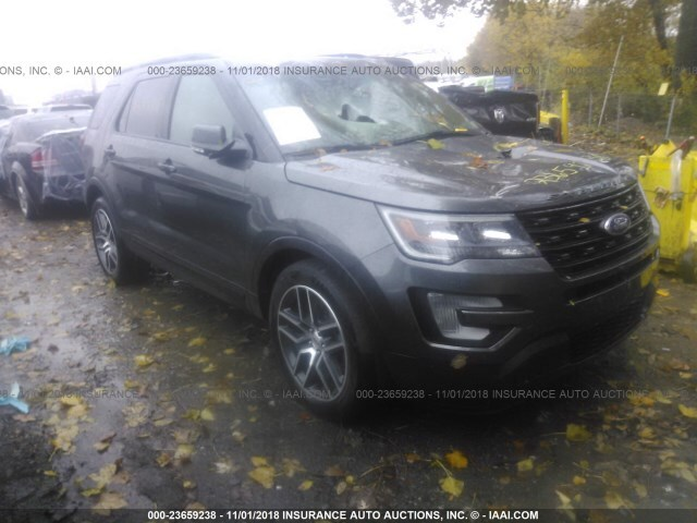 Salvage Car Ford Explorer 2017 Gray for sale in Indianapolis IN