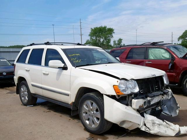 Auto Salvage Des Moines >> Auction Ended Salvage Car Jeep Grand Cherokee 2008 White Is