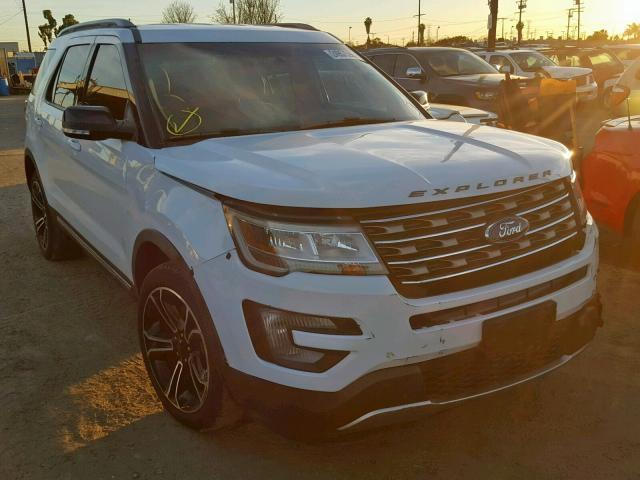 Salvage Car Ford Explorer 2017 White For Sale In Los Angeles Ca