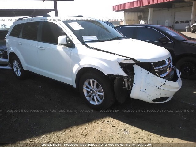 Salvage Car Dodge Journey 2013 White For Sale In Phoenix Az Online