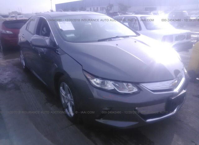 Salvage Car Chevrolet Volt 2017 Gray For Sale In Fremont Ca Online