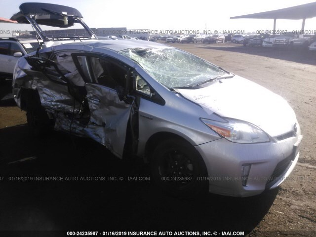 Salvage Car Toyota Prius 2012 Silver For Sale In Phoenix Az Online