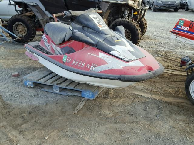 Salvage Motorcycle Kawasaki Jet Ski 1997 Red for sale in