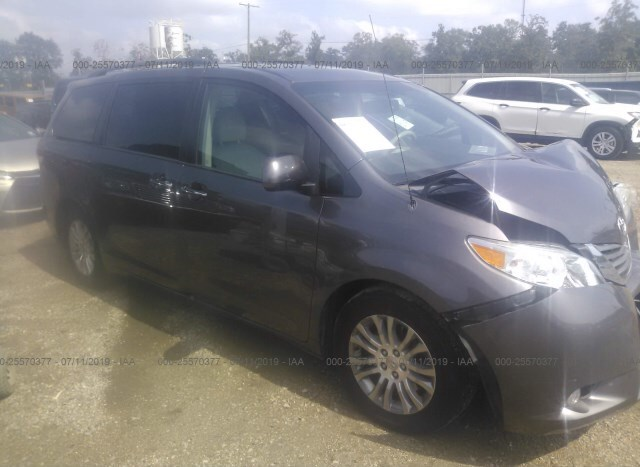 2012 Toyota Sienna For Sale >> Salvage Car Toyota Sienna 2012 Gray For Sale In Livingston