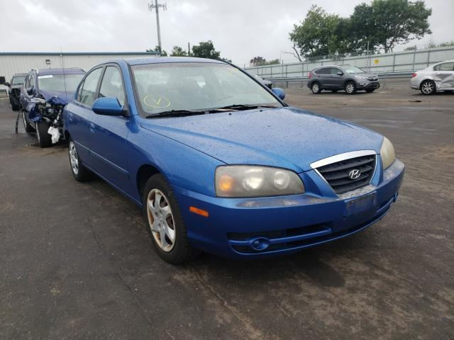 used car hyundai elantra 2004 blue for sale in brookhaven ny online auction kmhdn46d24u799956 ridesafely