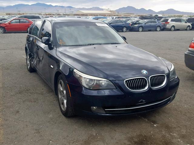 Salvage Car Bmw 5 Series 2008 Blue for sale in LAS VEGAS NV online