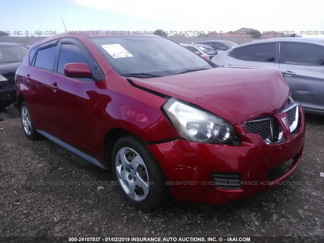 Salvage Car Pontiac Vibe 2009 Red For Sale In Phoenix Az Online