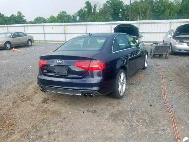 Salvage Car Audi S4 2016 Blue for sale in YORK HAVEN PA