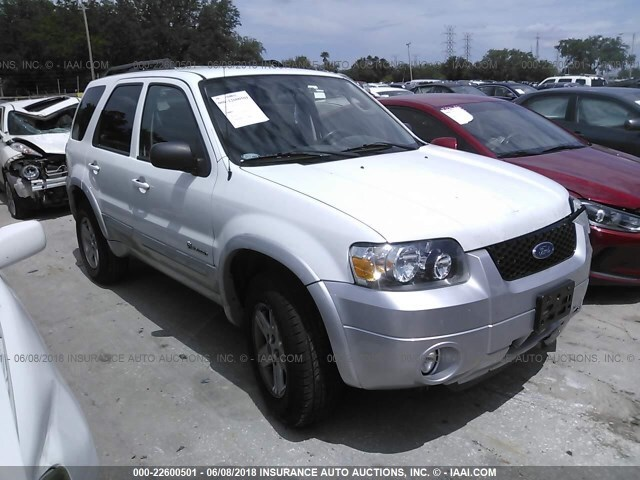 Ford Escape Hybrid For Sale >> Salvage Car Ford Escape Hybrid 2007 White For Sale In