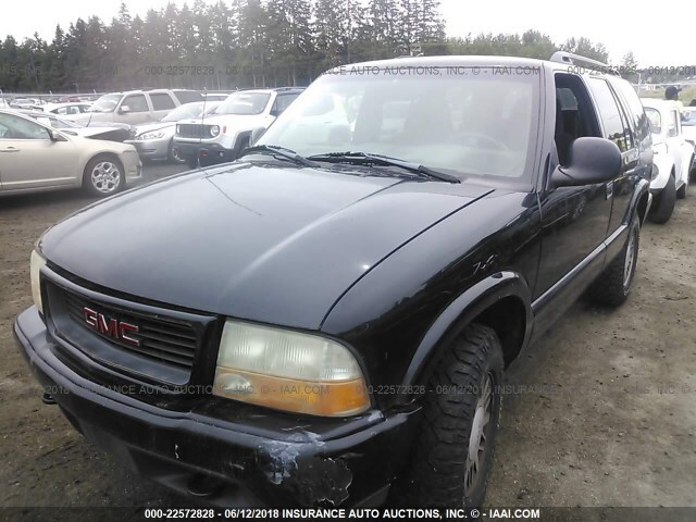 Salvage Car Gmc Jimmy Or Envoy 1998 Black for sale in
