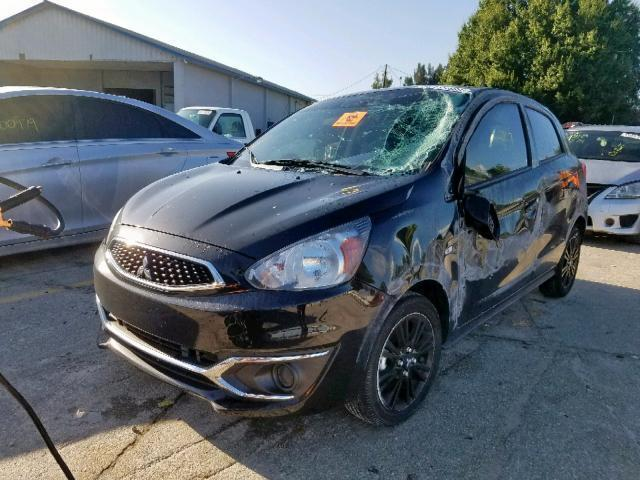 Salvage Car Mitsubishi Mirage Gt 2019 Black For Sale In