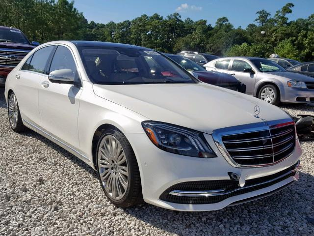 Auction Ended Salvage Car Mercedes Benz S Class 2019 White