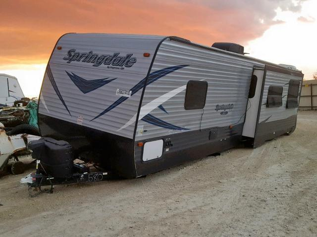Salvage RV Keystone Rv Springdale 2019 White for sale in NEW