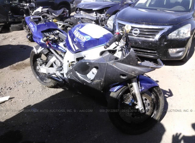 Tremendous Salvage Motorcycle Yamaha Yzf R6 2001 Blue For Sale In Gmtry Best Dining Table And Chair Ideas Images Gmtryco