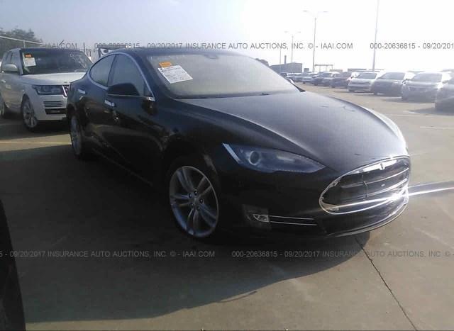 Salvage Car Tesla Model S 2015 Black For Sale In Online Tx
