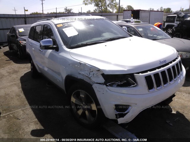 Salvage Car Jeep Grand Cherokee 2015 White For Sale In Tulsa Ok