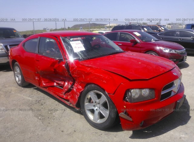 Salvage Car Dodge Charger 2007 Red for sale in Justin TX