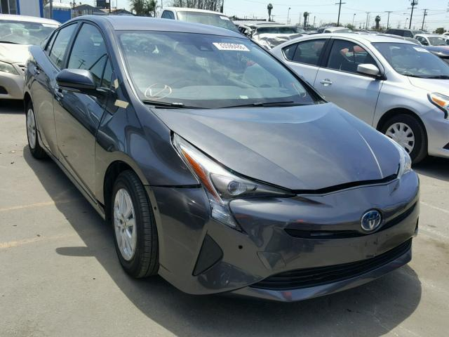 Salvage Car Toyota Prius 2017 Gray For Sale In Los Angeles Ca Online