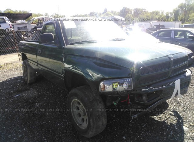Car Auctions In Nc >> Salvage Car Dodge Ram Pickup 1995 Green For Sale In New