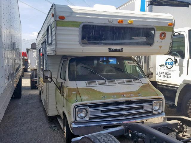 Salvage RV Dodge Sportsman 1976 White for sale in RANCHO CUCAMONGA