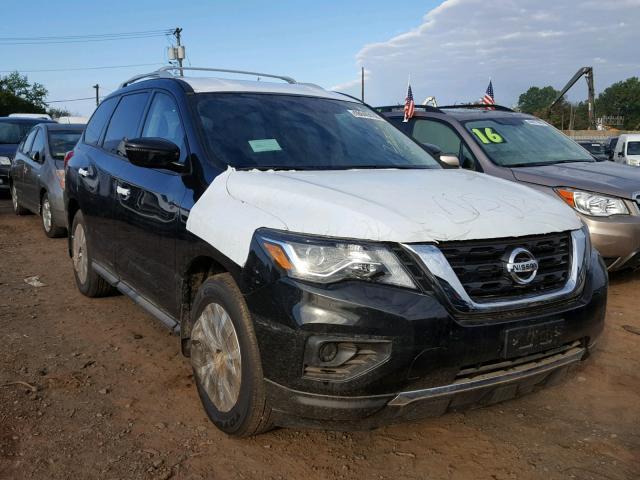 Salvage Car Nissan Pathfinder 2018 Black for sale in