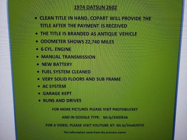 Datsun 260Z for Sale