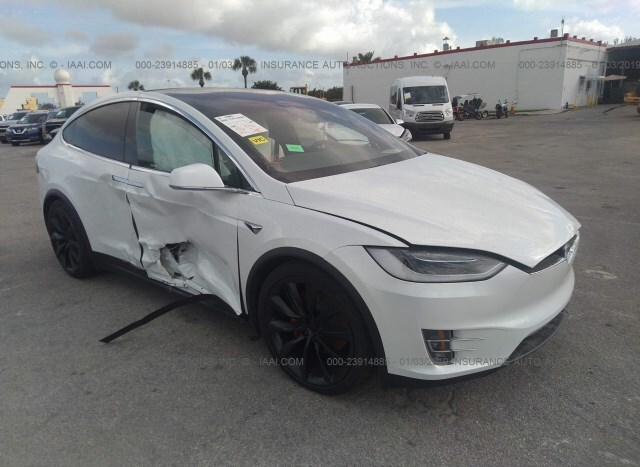 Auction Ended Salvage Car Tesla Model X 2018 White Is Sold In Opa