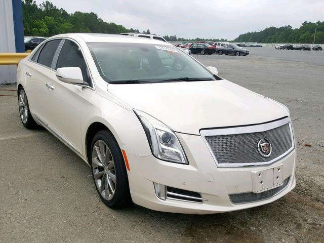Salvage Car Cadillac Xts 2013 Cream for sale in SHREVEPORT